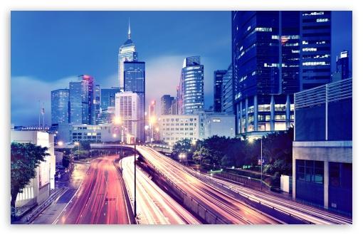 Download Hong Kong Night View UltraHD Wallpaper