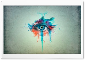 Eye Minimalistic Painting