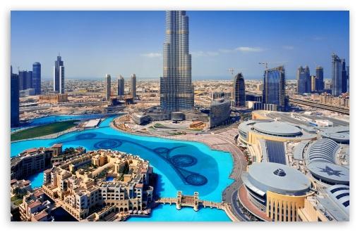 Download United Arab Emirates Skyscrapers Dubai Megapolis UltraHD Wallpaper