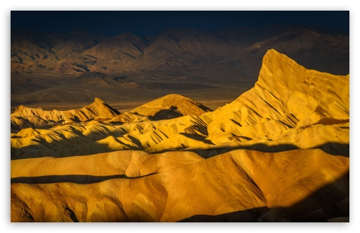 Download Panoramic view from Zabriskie Point, Golden... UltraHD Wallpaper