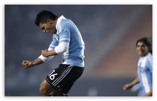 Download Copa America Argentina 2011 - Sergio Aguero UltraHD Wallpaper