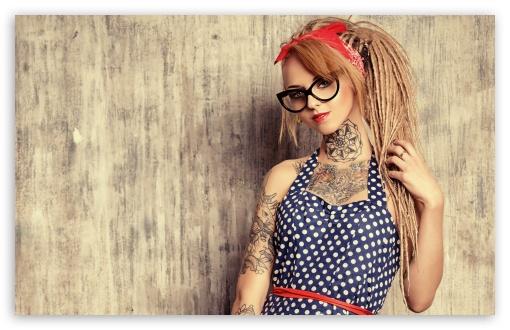 Download Devusa Tattoo Girl UltraHD Wallpaper