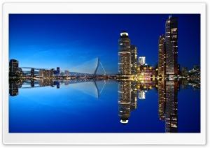 Rotterdam Skyline Night