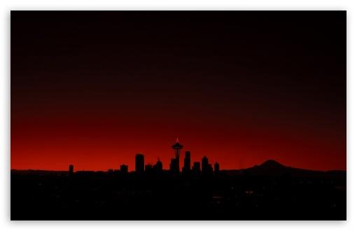 Download Seattle Sunset UltraHD Wallpaper