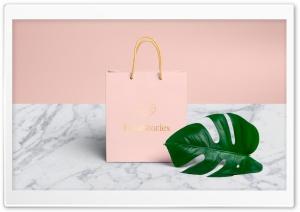 Pink Shopping Bag, Tropical...