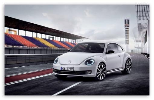Download Volkswagen Beetle White UltraHD Wallpaper