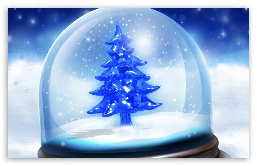 Download Christmas Snow Globe UltraHD Wallpaper