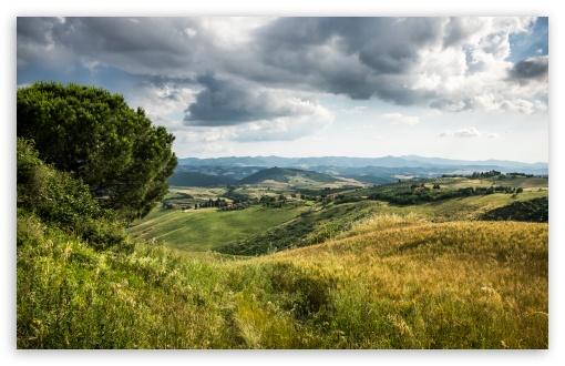 Download Tuscany Hills Landscape UltraHD Wallpaper