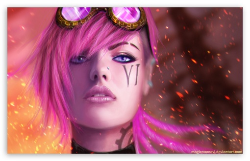 Download Vi the Piltover Enforcer - League of Legends UltraHD Wallpaper