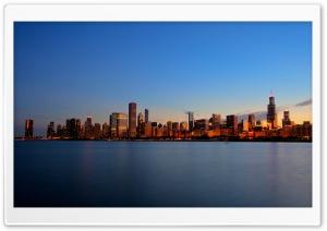 Chicago Skyline Night