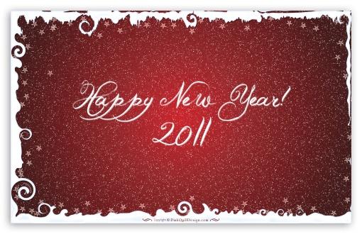 Download Happy New Year 2011 UltraHD Wallpaper