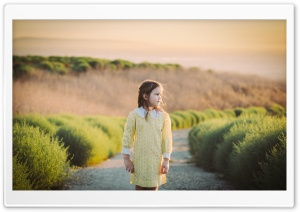 Child Girl in a Yellow Dress,...