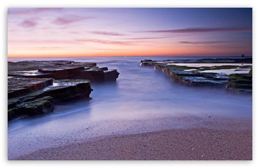 Download Beautiful Sea Horizon, Sunset UltraHD Wallpaper