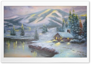 Winter House Painting