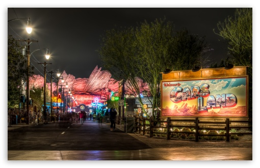 Download Welcome to Cars Land UltraHD Wallpaper