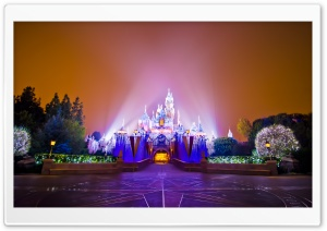Disneyland Castle Christmas