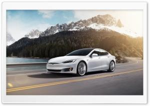 White Tesla Model S Electric...
