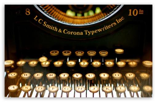 Download Typewriter UltraHD Wallpaper