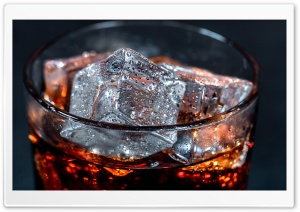 Always Cola Cola with ice cubes