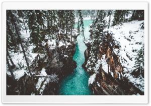 Athabasca Falls Canyon,...