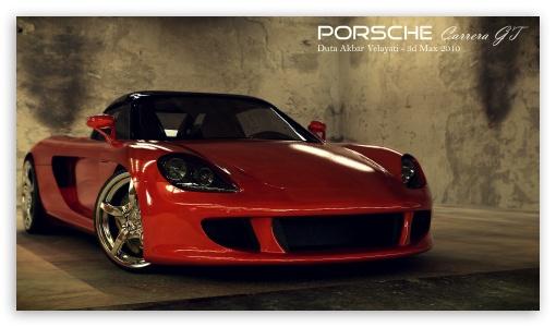 Download Porsche Carrera GT 3D Max UltraHD Wallpaper