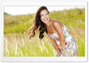 Beautiful Woman On A Field