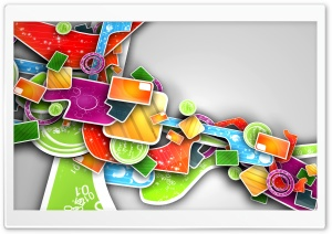 Colorful Abstract 3D Art