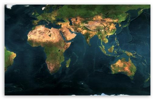Download World Map Dual Monitor UltraHD Wallpaper