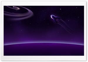 Purple Rocket Into Space