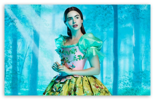 Download Lily Collins as Snow White UltraHD Wallpaper