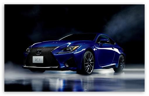 Download Lexus RC-F Blue Model Car UltraHD Wallpaper