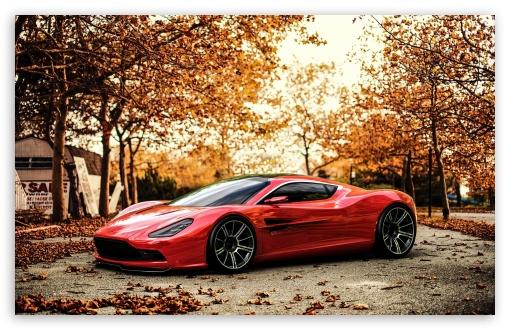 Download Red Aston Martin DBC UltraHD Wallpaper