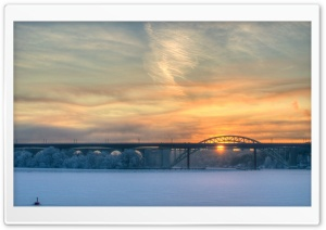 Golden Sunrise In Stockholm