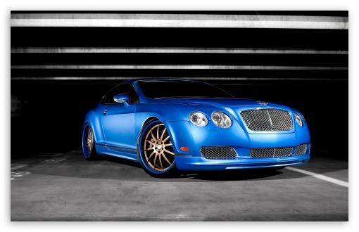Download Bentley Continental GT Blue UltraHD Wallpaper