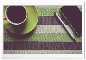 Cup of Coffee, Pen, Smartphone