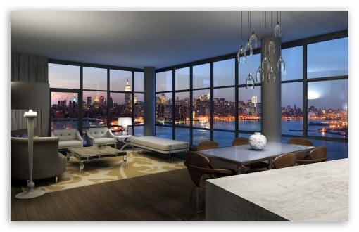 Download Livingroom With A Nice View UltraHD Wallpaper