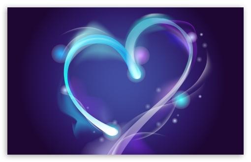 Download Blue Heart UltraHD Wallpaper