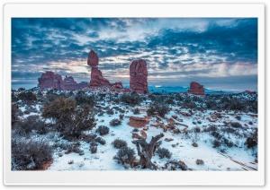 Winter, Balanced Rock, Arches...