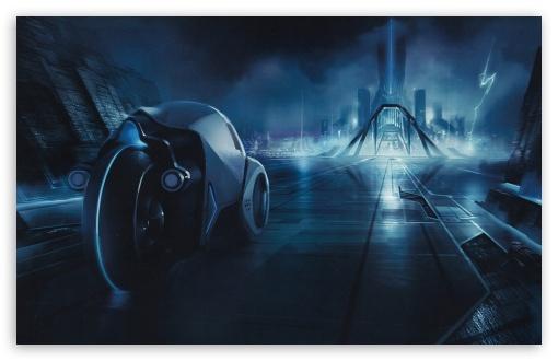 Download Tron City UltraHD Wallpaper