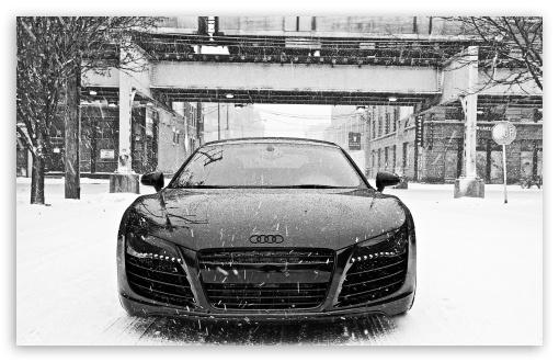 Download Audi R8 in Snow UltraHD Wallpaper
