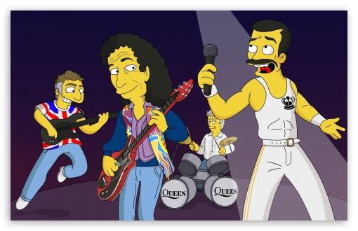 Download Queen Band Cartoon UltraHD Wallpaper