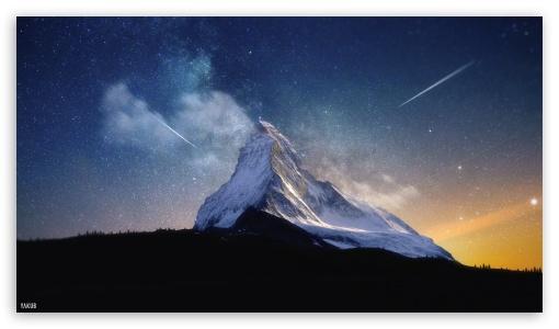 Download Milky Way Mountain by Yakub Nihat UltraHD Wallpaper