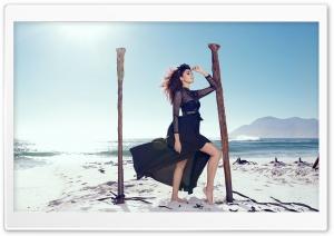 Beach, Sea, Woman, Breeze
