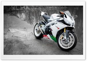 Aprilia RSV4 White Motorcycle