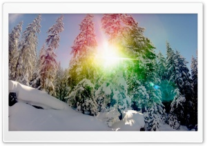 Snow Rainbow Circle