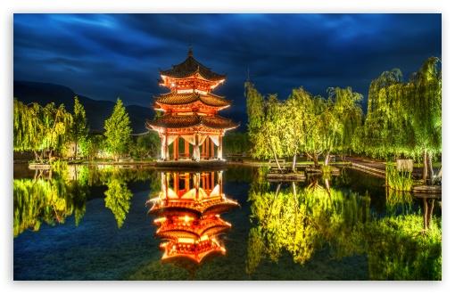 Download Chinese Pagoda UltraHD Wallpaper