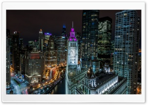Chicago Buildings at Night