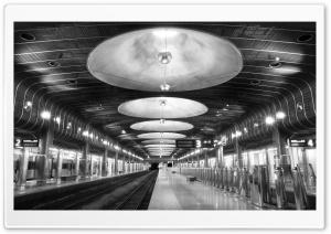 Railroad Station Black And White