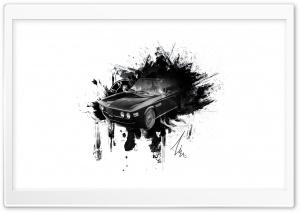 BMW E9 COUPE Ink-Splatter