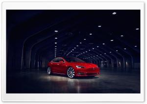 Tesla Model S Electric Car Red